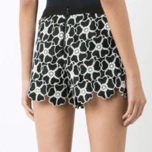 Alice and Olivia macrame floral shorts